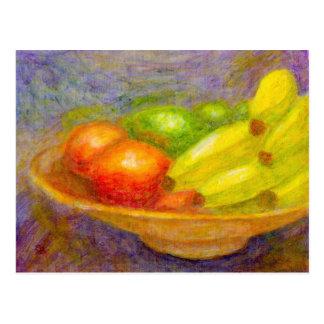Plátanos, tomates y cales, postal