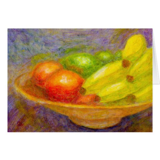 Plátanos, tomates y cales, tarjeta de felicitación