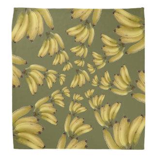 plátanos tropicales en círculos bandana