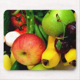 Plátanos y manzanas de las cerezas alfombrillas de raton