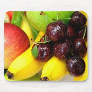 Plátanos y manzanas de las cerezas tapetes de ratón