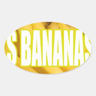 Plátanos Yo de Dats Pegatina Ovalada