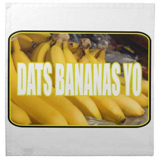 Plátanos Yo de Dats Servilleta De Papel