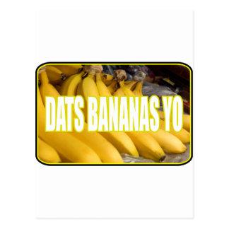Plátanos Yo de Dats Tarjetas Postales