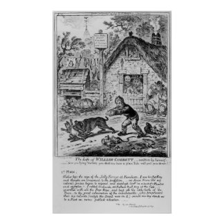 Plate 1, from 'The Life of William Cobbett' Poster