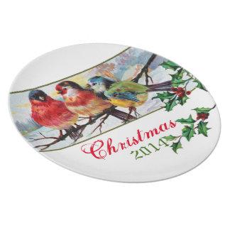 Plate 3 Beautiful Wild Birds on a snowy branch