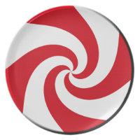 Plate - 4 Peppermint Swirls