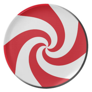 Plate - 4 Peppermint Swirls