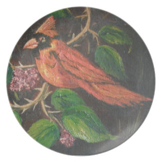 Plate Ann Hayes Painting Cardinal