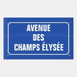 plate avenue of the Elysées fields - FRANCE