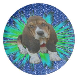 Plate Basset Baby Basset Sheldon