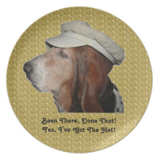 Plate Basset Hound Been There Done That
