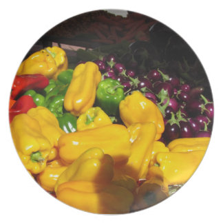 Plate - Bright Colored Peppers