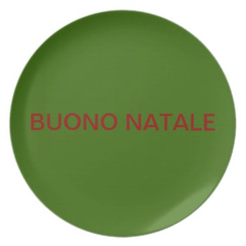 Plate Buono Natale Red And Green by creativeconceptss at Zazzle