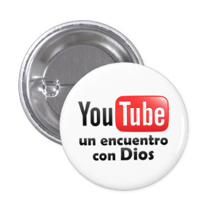 """Plate/Button """"You Tube an encounter with God """" Pinback Button"""