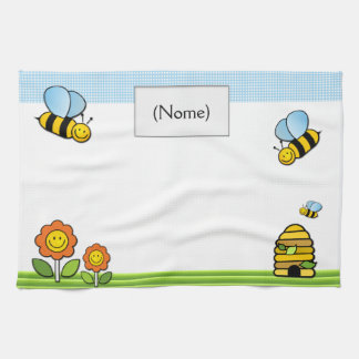 Plate cloth in layout93 line babies towel