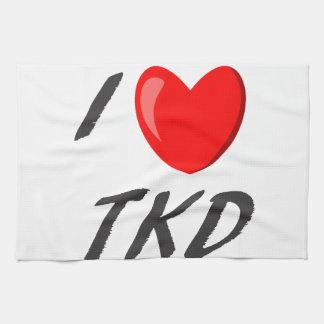 Plate cloths I Love TKD Kitchen Towel