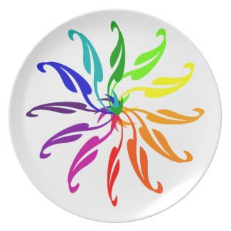 Plate - Color wheel on white