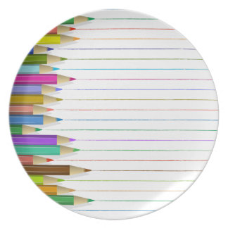Plate - Colored Pencil Lines