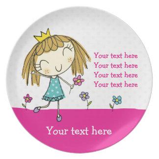 ♥ PLATE ♥ cute girlie princess pink polka dot