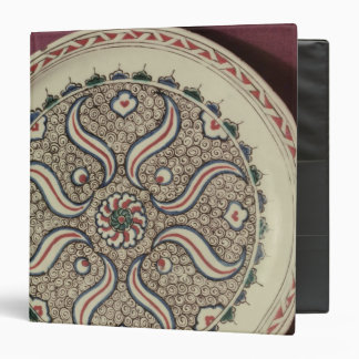 Plate decorated with a flame pattern 3 ring binder