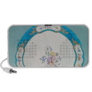 Plate decorated with a floral pattern, Sevres Notebook Speakers