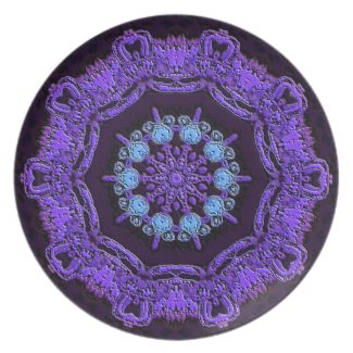 PLATE - Decorative pattern in Purples plate