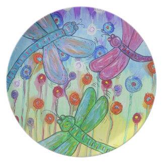 Plate - Delightful Dragonflies