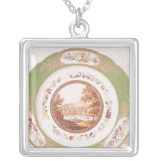 Plate depicting the old Pont de Sevres Silver Plated Necklace