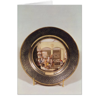 Plate depicting the Sevres workshop Greeting Card