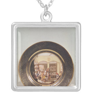 Plate depicting the Sevres workshop Silver Plated Necklace
