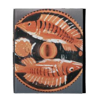 Plate depicting two fish 350 BC ceramic iPad Cases