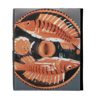 Plate depicting two fish, 350 BC (ceramic) iPad Cases
