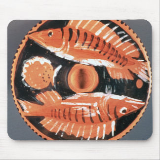 Plate depicting two fish, 350 BC (ceramic) Mouse Pad