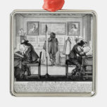 Plate engravers working with gallery ornaments