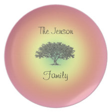 Plate - Family Tree plate