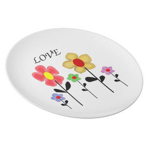 Plate,flowers