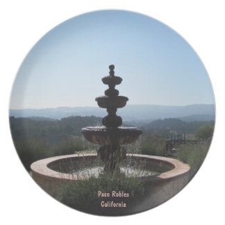 Plate: Fountain at Croad Vineyards, Paso Robles