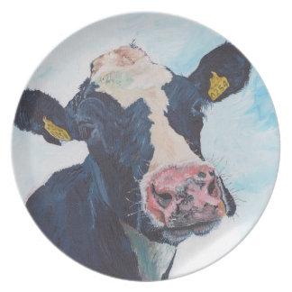 Plate - Friesian Cow