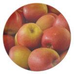plate full of apples