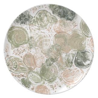 Plate Full Of Seashells