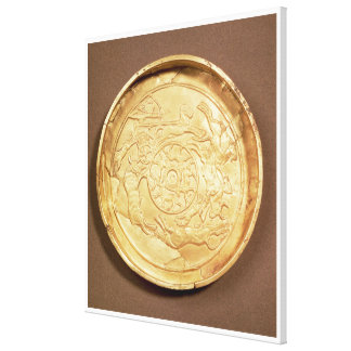 Plate (gold) canvas print