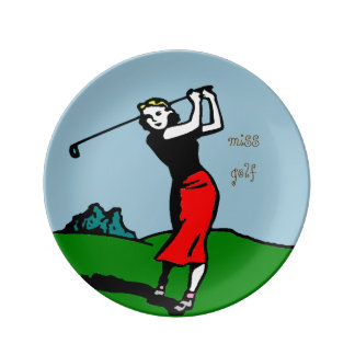 "plate ""golfer """