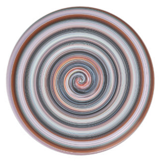 Plate grey-red spiral sample