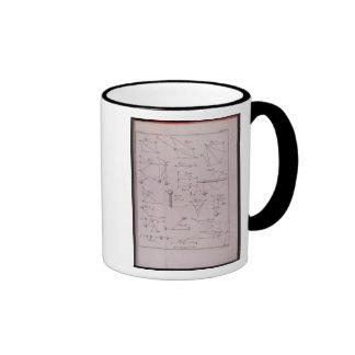 Plate I, Illustrating Law II from Volume I Ringer Coffee Mug