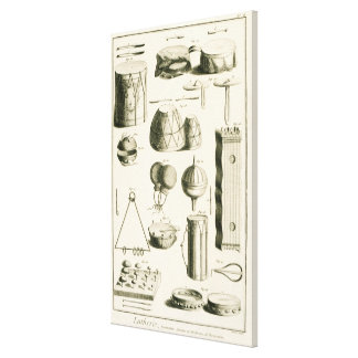 Plate II: Ancient and modern percussion instrument Canvas Print