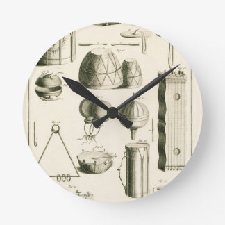 Plate II: Ancient and modern percussion instrument Round Wallclock