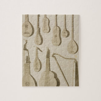 Plate III: Ancient and modern stringed and plucked Jigsaw Puzzle