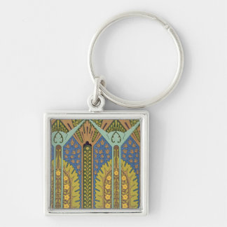 Plate III from 'Studies in Design', c.1874-76 (lit Silver-Colored Square Keychain
