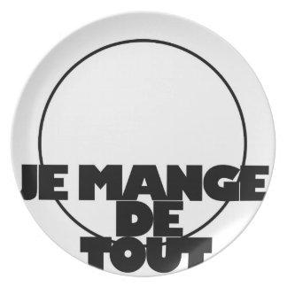 PLATE-JE MANGE DE TOUT MELAMINE PLATE